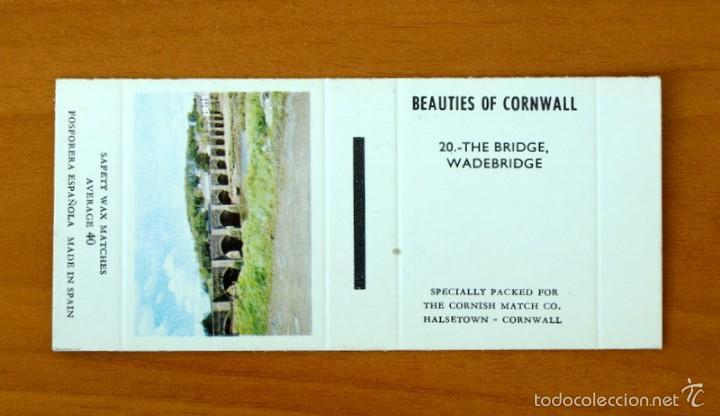caja de cerillas - Beauties of Cornwall - nº 20 The Bridge, Wadebridge - Fosforera Española segunda mano