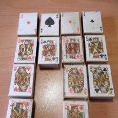 Cajas de Cerillas: LOTE CAJAS DE CERILLA JUEGO DE CARTAS ITALIA. Lote 56668413