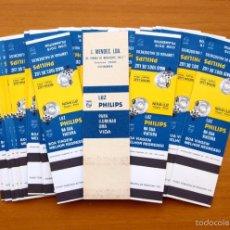 Cajas de Cerillas: LAMPARAS PHILIPS, PUBLICIDAD EN LA TRASERA -COMPLETA, 31 CAJAS DE CERILLAS DE PORTUGAL / PORTUGUESAS. Lote 56721972
