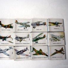 Cajas de Cerillas: SERIE DE 12 CAJAS DE CERILLAS/CARTERITAS. TEMA AVIONES.. Lote 56839141