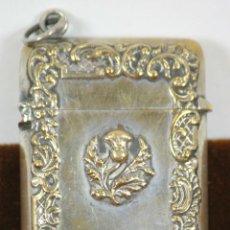Cajas de Cerillas: CAJITA DE CERILLAS EN METAL PLATEADO. SIGLO XIX. . Lote 56918556