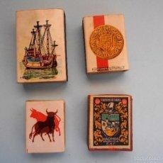 Cajas de Cerillas: 4 ANTIGUAS CAJAS DE CERILLAS VACIAS #FV-R. Lote 57068065