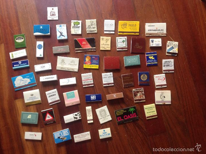 LOTE DE 50 CAJAS DE CERILLAS TODAS DIFERENTES (Coleccionismo - Objetos para Fumar - Cajas de Cerillas)