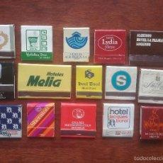 Cajas de Cerillas: 15 CAJAS DE CERILLAS HOTELES AÑOS 70.. Lote 57542936