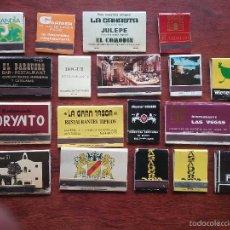 Cajas de Cerillas: 18 CAJAS DE CERILLAS RESTAURANTES AÑOS 70. Lote 57543105