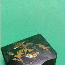 Cajas de Cerillas: ANTIGUO CERILLERO EN PAPEL MACHÉ SG.XIX. 1880-1890 ESCENA CHINESCAS PICIS . Lote 58096444