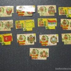 Cajas de Cerillas: 13 CROMOS CAJAS DE CERILLAS BANDERAS -VER FOTOS - (V-6376). Lote 58184334