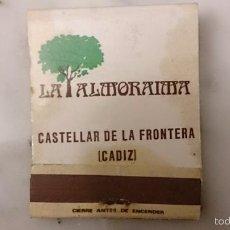 Cajas de Cerillas: CAJA DE CERILLAS LA ALMORAIMA. Lote 58474653