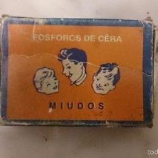 Cajas de Cerillas: CAJA DE CERILLAS MIUDOS (PORTUGAL). Lote 58484593