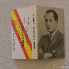 Cajas de Cerillas: CAJA CERILLAS RESTAURANTE MALACATIN. Lote 59791344