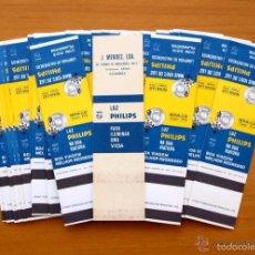 Cajas de Cerillas: LAMPARAS PHILIPS, PUBLICIDAD EN LA TRASERA -COMPLETA, 31 CAJAS DE CERILLAS DE PORTUGAL / PORTUGUESAS. Lote 59975983
