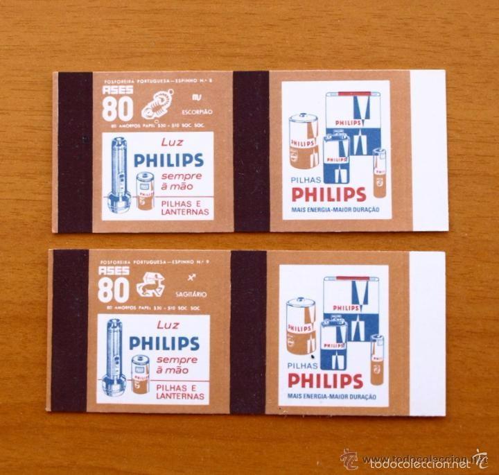 Cajas de Cerillas: Horoscopos Philips - Colección completa, 12 Cajas de cerillas de Portugal / Portuguesas - Foto 2 - 59976671