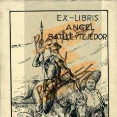 Cajas de Cerillas: CERVANTES-QUIJOTE. COLECCION DE 12 ORIGINALES PARA CONFECCIONAR LOS EX-LIBRIS DE........... Lote 60386835