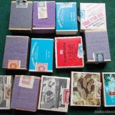 Cajas de Cerillas: 13 CAJAS DE CERILLAS ANTIGUAS TODAS CON SELLOS FISCALES. Lote 60560335