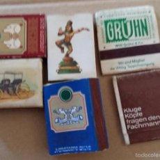 Cajas de Cerillas: LOTE DE 6 CAJAS DE CERILLAS. Lote 60891287