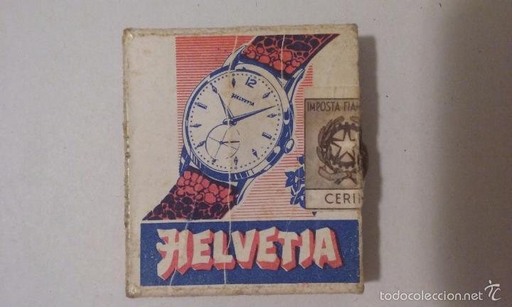 CAJA DE CERILLAS - ITALIA - PUBLICIDAD RELOJES HELVETIA (Coleccionismo - Objetos para Fumar - Cajas de Cerillas)