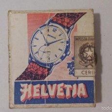 Cajas de Cerillas: CAJA DE CERILLAS - ITALIA - PUBLICIDAD RELOJES HELVETIA. Lote 61256967