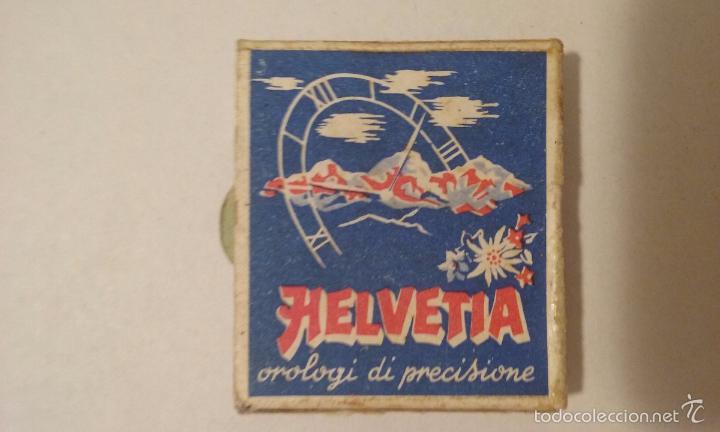 Cajas de Cerillas: CAJA DE CERILLAS - ITALIA - PUBLICIDAD RELOJES HELVETIA - Foto 2 - 61256967