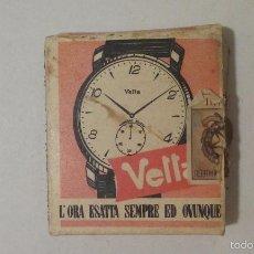 Cajas de Cerillas: CAJA DE CERILLAS - ITALIA - PUBLICIDAD RELOJES VETTA. Lote 61257047