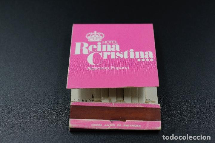 CARTERITA DE CERILLAS HOTEL REINA CRISTINA (Coleccionismo - Objetos para Fumar - Cajas de Cerillas)