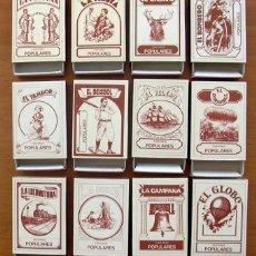 Cajas de Cerillas: VIEJOS TIEMPOS - 12 CAJAS DE CERILLAS - COLECCIÓN COMPLETA - FÓSFOROS DEL PIRINEO. Lote 61746740
