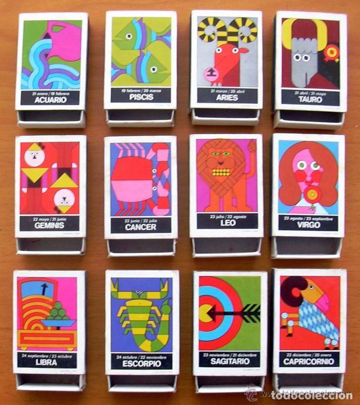 HORÓSCOPOS - 12 CAJAS DE CERILLAS - COLECCIÓN COMPLETA - FÓSFOROS DEL PIRINEO (Coleccionismo - Objetos para Fumar - Cajas de Cerillas)