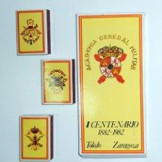 Cajas de Cerillas: TRES CAJAS DE CERILLAS I CENTENARIO ACADEMIA GENERAL MILITAR. INCLUYE ESTUCHE. ESCUDOS. EMBLEMAS.. Lote 61856708