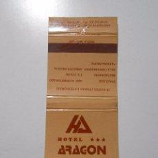 Cajas de Cerillas: CAJA DE CERILLAS HOTEL ARAGON. BARCELONA. TDKP8. Lote 63121448