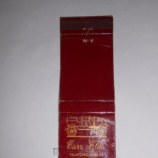 Cajas de Cerillas: CAJA DE CERILLAS CARS CLUB BILBAO. TDKP8. Lote 63253328