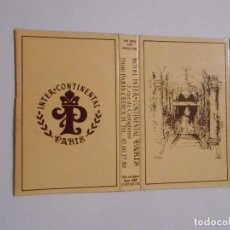 Cajas de Cerillas: CAJA DE CERILLAS HOTEL INTERCONTINENTAL PARIS. TDKP8. Lote 63256036