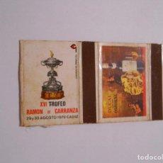 Cajas de Cerillas: CAJA DE CERILLAS XVI TROFEO RAMON DE CARRANZA CADIZ. 29 Y 30 DE AGOSTO DE 1970. OSBORNE. TDKP8. Lote 63300604