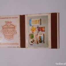 Cajas de Cerillas: CAJA DE CERILLAS CONSERVAS ULECIA. LOGROÑO. TDKP8. Lote 63300916