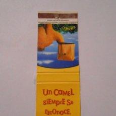 Cajas de Cerillas: CAJA DE CERILLAS TABACO UN CAMEL SIEMPRE SE RECONOCE. TDKP8. Lote 63301384