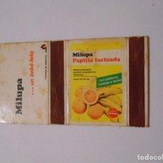 Cajas de Cerillas: CAJA DE CERILLAS MILUPA. MILANA FLAN Y NATILLAS TDKP8. Lote 63302940