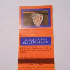 Cajas de Cerillas: CAJA DE CERILLAS FAUNA Y FLORA DE ARAGON. POLYMMATUS ICARUS. TDKP8. Lote 63303540