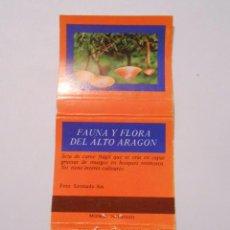 Cajas de Cerillas: CAJA DE CERILLAS FAUNA Y FLORA DE ARAGON. CALERINA MYCENOPSIS. TDKP8. Lote 63303772