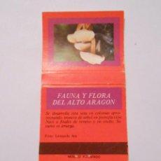 Cajas de Cerillas: CAJA DE CERILLAS FAUNA Y FLORA DE ARAGON. HYPHOLOMA FASCICULARE. TDKP8. Lote 63303960