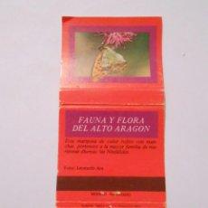 Cajas de Cerillas: CAJA DE CERILLAS FAUNA Y FLORA DE ARAGON. ARGYNNIS PAPHIA. TDKP8. Lote 63303996