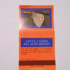 Cajas de Cerillas: CAJA DE CERILLAS FAUNA Y FLORA DE ARAGON. POLYMMATUS ICARUS. TDKP8. Lote 63304036