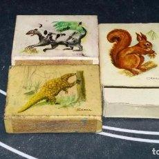 Cajas de Cerillas: 3 CAJAS DE CERILLAS: COLECCIÓN CAZA MENOR. Lote 63801851
