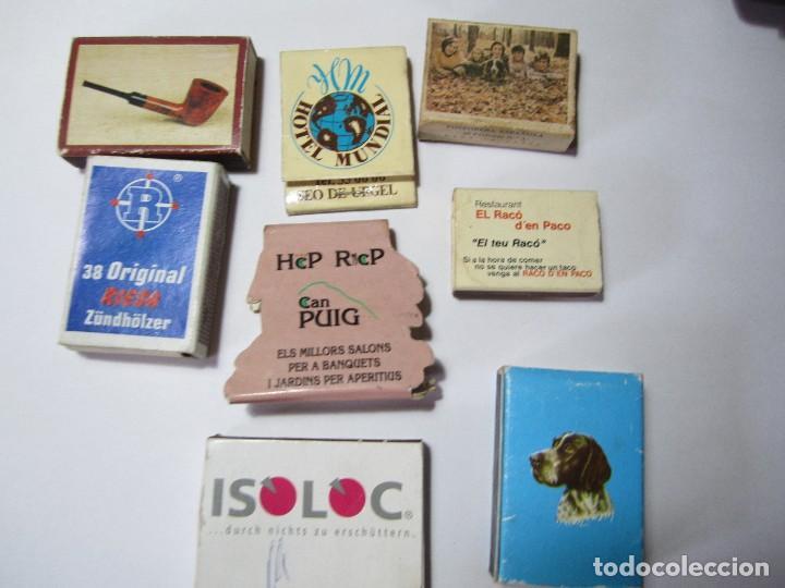 LOTE 8 CAJAS DE CERILLAS (Coleccionismo - Objetos para Fumar - Cajas de Cerillas)