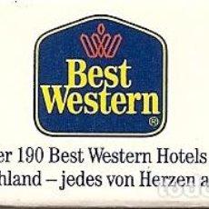 Cajas de Cerillas: CAJA DE CERILLAS ALEMANIA, HOTEL BEST WESTERN, SIN USAR. Lote 65657782