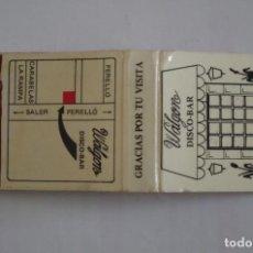 Cajas de Cerillas: CARTERITA DE CERILLAS - DISCO BAR WALGON - PERELLONET - NUEVA SIN USAR. Lote 67512877