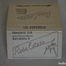 Cajas de Cerillas: CARTERA DE CERILLAS - BAR ROBA ESTESA - BARCELONA - NUEVA SIN USAR. Lote 67516921