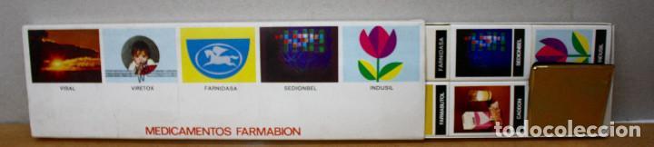 ESTUCHE 9 CAJAS DE CERILLAS MEDICAMENTOS FARMABION (Coleccionismo - Objetos para Fumar - Cajas de Cerillas)