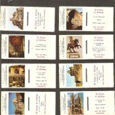 Cajas de Cerillas: 20 CAJAS DE CERILLAS EN PLANCHA VACÍAS - EL CAMINO DE SANTIAGO - COMPLETA - AÑO 1965. Lote 69406405