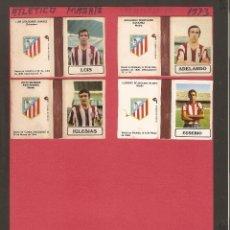 Cajas de Cerillas: 4 CAJAS DE CERILLAS EN PLANCHA VACÍAS - ATLETICO DE MADRID - TEMPORADA 73. Lote 69422713