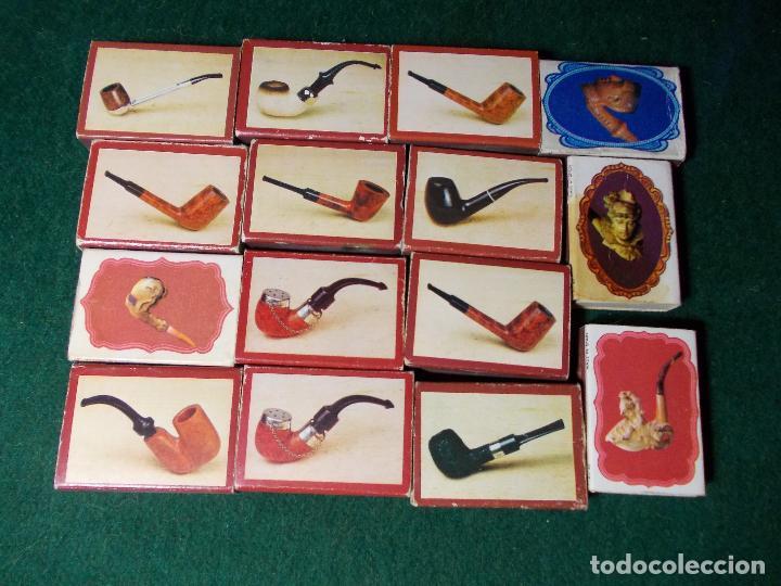 LOTE DE CERILLAS SERIE DE PIPAS (Coleccionismo - Objetos para Fumar - Cajas de Cerillas)