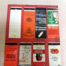 Cajas de Cerillas: 16 CAJAS DE CERILLAS ANTIGUAS - BARCELONA CAPITAL. Lote 69862445