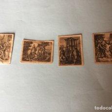 Cajas de Cerillas: 4 CROMOS FOTOTIPIAS SERIE D. QUIJOTE. Lote 70293221